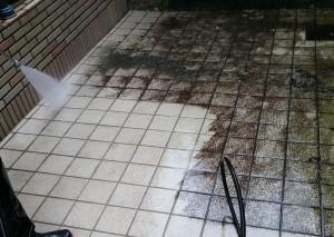 床タイルの洗浄2