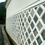 伊豆松崎の四半貼り模様の 海鼠壁