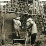 昭和戦前の土蔵荒打ち 堀江弥太郎氏所有の写真