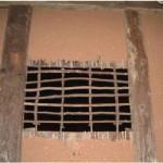 東北民家の下地窓